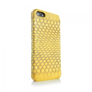 Animal Skins Hard Case Snake Yellow for iPhone 5/5S